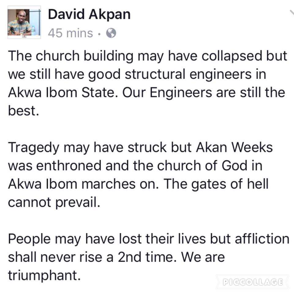 Man Gets Blasting Of His Life After Commenting About Fallen Tent In Akwa Ibom
