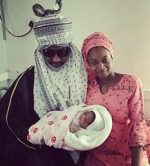 Photos: Emir Of Kano Is A Model Grandfather! See As He Proudly Cradles His New Grandchild
