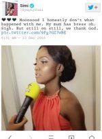 Artiste, Simi Bemoans Her Small 'Breast' Size [See Tweet]