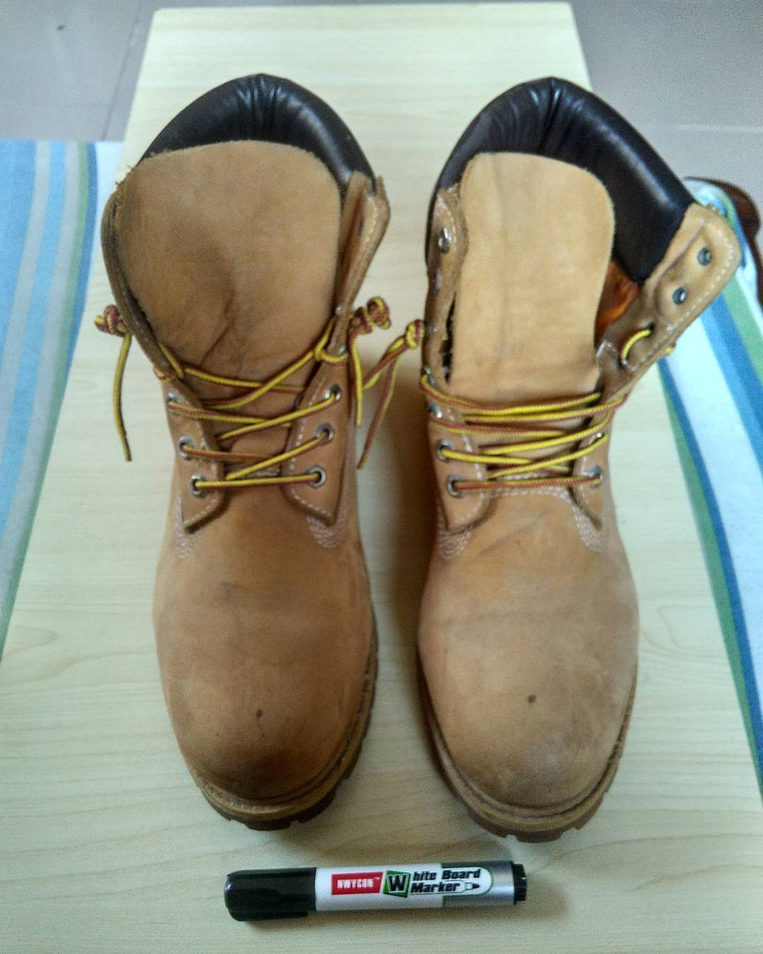 AMAZING!!! Check Out What One Of Our Blog Readers Did To His Timbaland Boots!!!