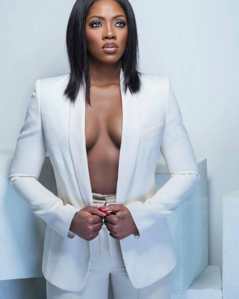 FIERCE! Check Out Tiwa Savage's Alluring Look In New Photoshoot