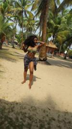 Nollywood Actress, Meg Otanwa Flaunts Flawless Physique On Vacation