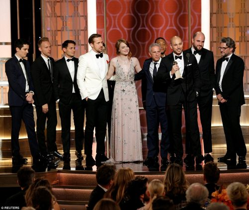 Lalaland Wins 7 Awards , Becomes Most Successful Film Of All Time At The Golden Globe Awards