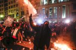 Anti-Trump Protesters Clash With Cops As Rally Turns Bloody  [Photos]