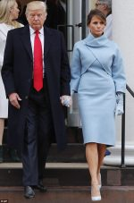 Check Out Melania Trump's Outfit To Husband Donald Trumps Inauguration As She Channels Jackie Kennedy