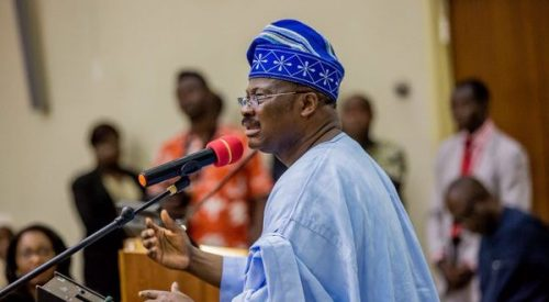 Gov Ajimobi Risks Inciting Infamous 'Aluta' As He Taunts Protesting LAUTECH Students [Video]
