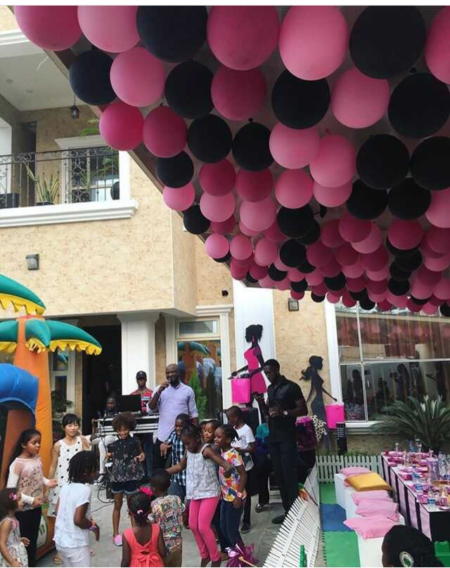 Photos: Peter Okoye Throws Fun-Packed Birthday Party For 4 Year Old Daughter, Aliona