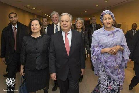 Pictures From Amina Mohammed's First Day At Work As UN Deputy Sec. General [Pictures]