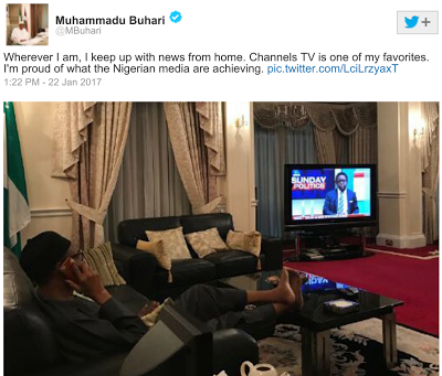 President Buhari Shares Relaxed Picture As He Begins 10-Day UK Vacay
