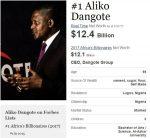 New Surprising Inclusions As Forbes Publishes Africa Richest Men's List | Dangote Maintains Pole Position