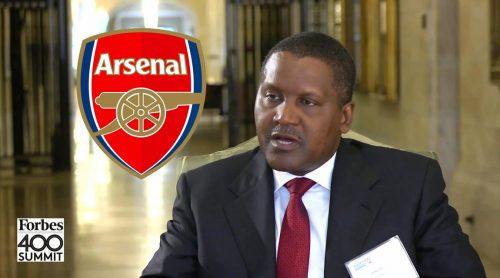 Aliko Dangote Reaffirms Plans To Buy Arsenal FC Soon