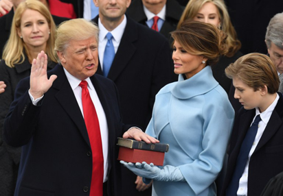 First Photo Of Donald Trump Sworn In As 45th President Of United States of America