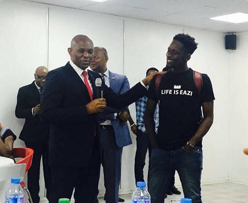 Mr Eazi Pays Courtesy Visit to Business Mogul, Tony Elumelu [Photos]
