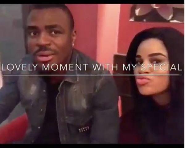 Football Star, Emmanuel Emennike Shares Special Moment With Beautiful Fiancee, Iheoma [Watch]