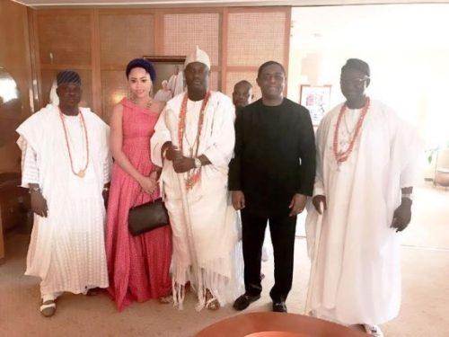 Femi Fani Kayode & Wife Pays Courtesy Visit To Ooni Of Ife [Photos]