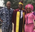 Nigerians Praise Femi Kuti As His Adopted Son Convocates From UNILAG [Photos]
