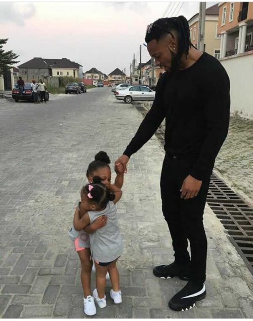Flavour Captures Tight Bond Between His Two Daughters From Different Moms In Cute Picture