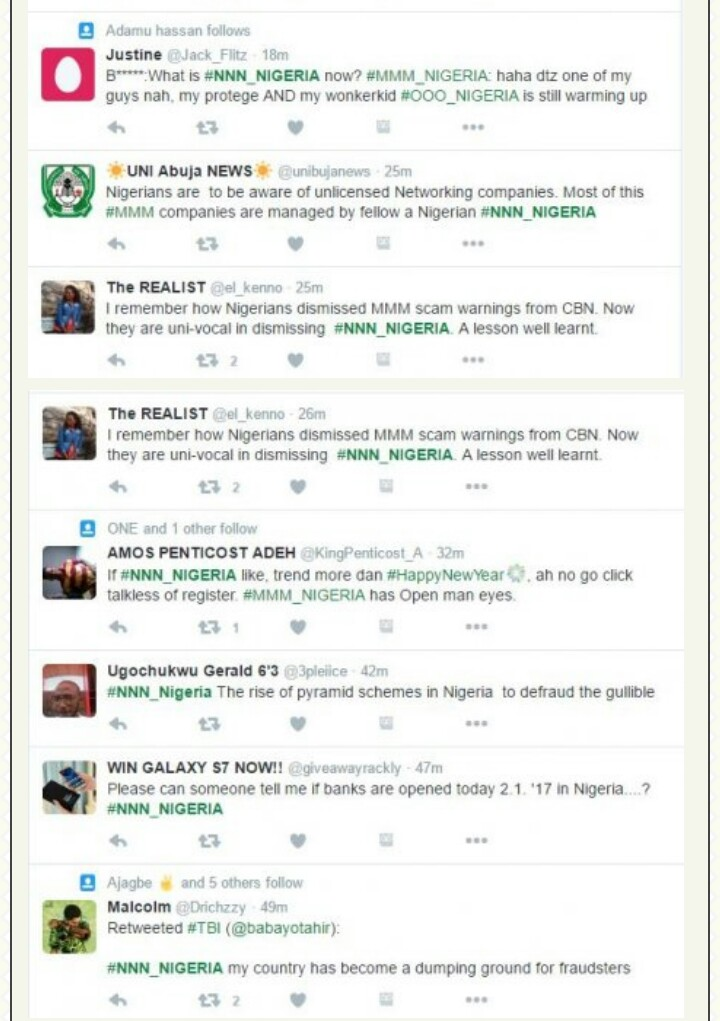 NNN: Another Ponzi Scheme Springs Up Online, See What Nigerians Think About It