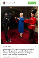 CONGRATS!!! Super Comedian, Basketmouth Knighted By Queen Elizabeth (PHOTOS INSIDE)