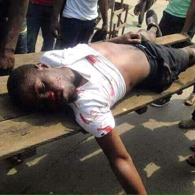 Pro-Biafra Members Involved In Bloody Clash With Police In Rivers State During 'Donald Trump' Rally [Graphic]