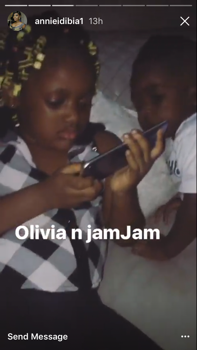 Tiwa Savage's Son, Jamil And 2face's Daughter, Olivia Bond On Cute Play Date Together [Photos]