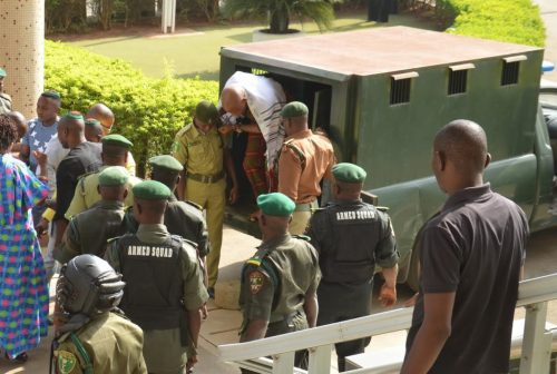 Photos: Nnamdi Kanu Appears In Court, Rejects Secret Trial
