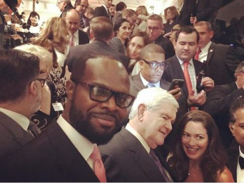 Nigerian Actress, Stephanie Linus' Husband, Idahosa Spotted With Ben Carson & Co At Donald Trump's Inauguration [Photos]