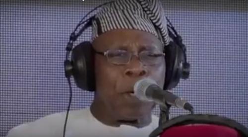 SO TOUCHING!!! Watch As Obasanjo, Gowon & Ekwueme Sing A Hymn For Nigeria [Video]