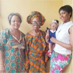 #FourGenerations : Osas Ajibade Poses For Quintessential Picture Feat. Daughter, Mom, And Granny
