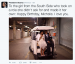 Awww…See President Obama's Beautiful Birthday Message To His Wife Michelle