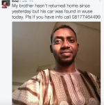 2 Ladies And A Guy Missing In Abuja (Photos)