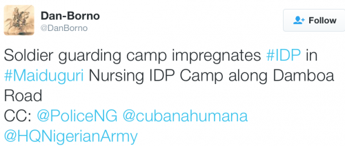 Randy Soldier reportedly Impregnates Woman In Maiduguri IDP Camp