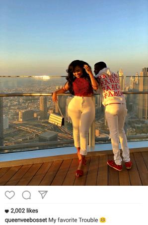 Voluptuous Kenyan Socialite, Vera Sidika Tours Dubai With Mystery Nigerian Boyfriend [Photos]