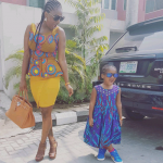 Photos: Annie Idibia & Daughter Steps Out In Grand Style