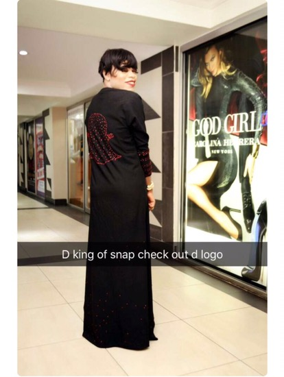Bobrisky Shares New Photos Wearing Customized Snapchat Caftan