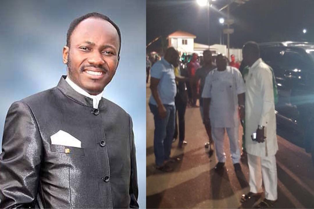 Drama As Ekiti Governor Fayose Foils DSS Plan To Arrest Apostle Suleiman(Photos)