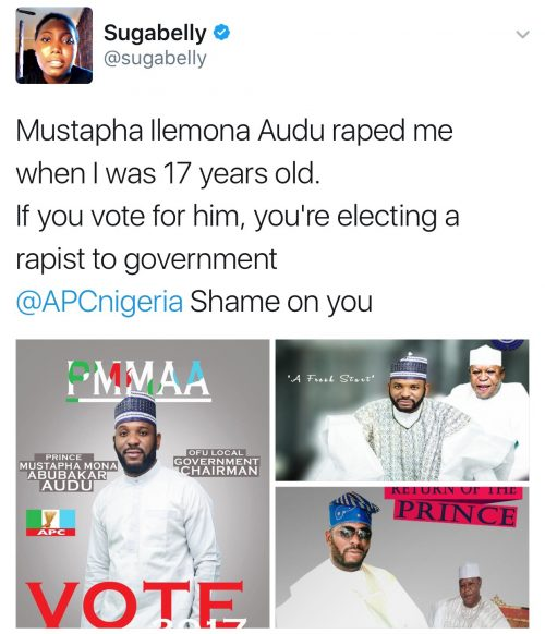 Dont Elect A Man Who Raped Me At 17 To Government- Sugabelly