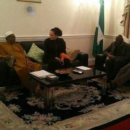 Photos: President Buhari Receiving Guests Today In London