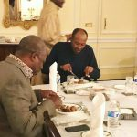 Photo:President Buhari Enjoys Dinner With Governor Ibikunle Amosun at Abuja House, Kensington London