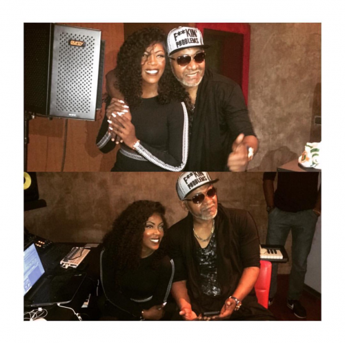 Another Hit Brewing: Tiwa Savage And Awilo Longomba Pictured In The Studio Together