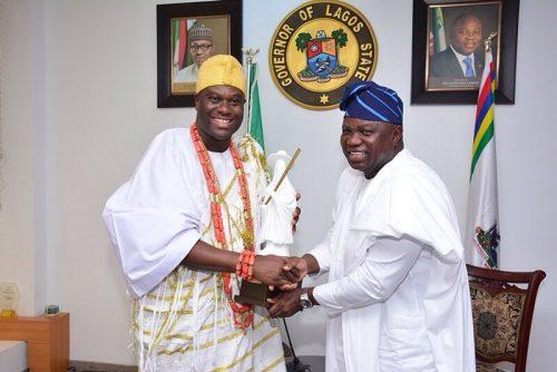 Photos: Governor Ambode Receives Ooni Of Ife Oba Adeyeye Enitan Ogunwusi Ojaja II