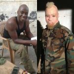 WOW!!!  Check Out How Make Up Artist Extraordinaire Hakeem Effect Transformed Chris Attoh To An Albino