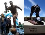 Photos: Lionel Messi Statue Vandalized In Beunos Aires
