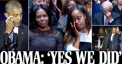 Read Michelle Obama's Emotional Message To Husband As They Vacate White House