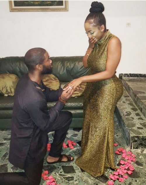 SEE ROMANCE!!! Man Flies All The Way From Liberia For Surprise Proposal To His Nigerian Girlfriend