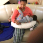 Picture Of Tonto Dikeh Breastfeeding Her Son, Andre Surfaces Online