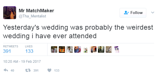 Twitter User Narrates Horrible Experience He Had At An Igbo Wedding