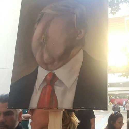 OMG!!! Check Out The Portrait Of Donald Trump (VIEWER DISCRETION)