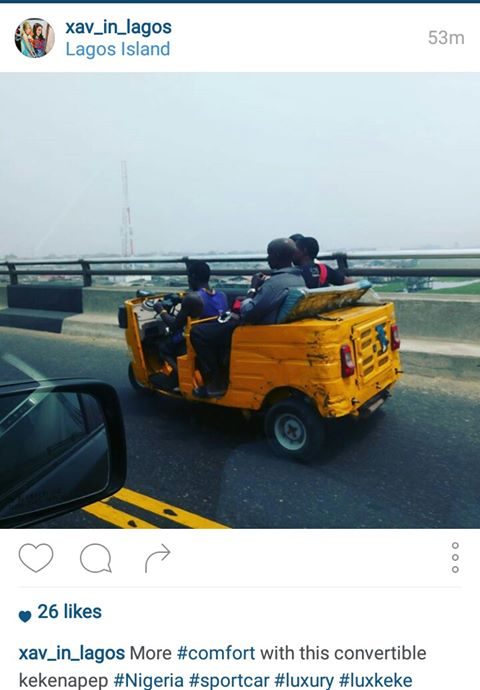 Check Out The Keke Napep Convertible Spotted On Lagos Island [Photo]