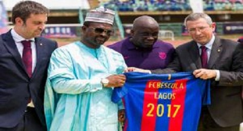 WOW! FC Barcelona Launches Football Academy In Lagos